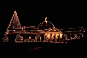 House illuminated by christmas lights